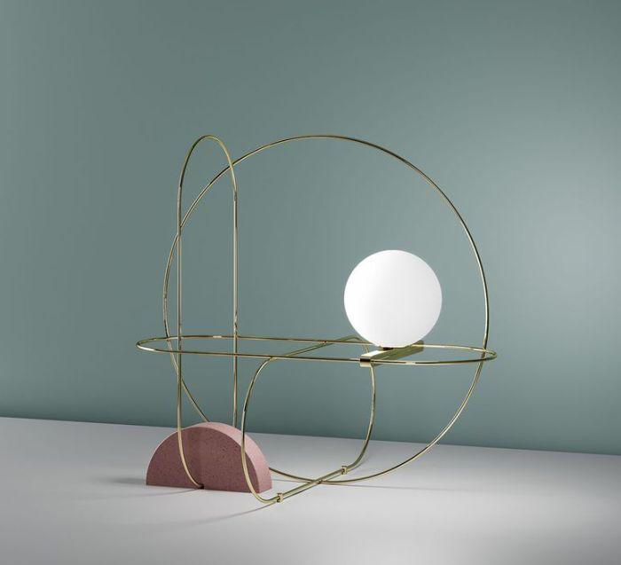LAMPE À POSER, SETAREH, OR, LED, L48CM, H44,9CM - FONTANA ARTE