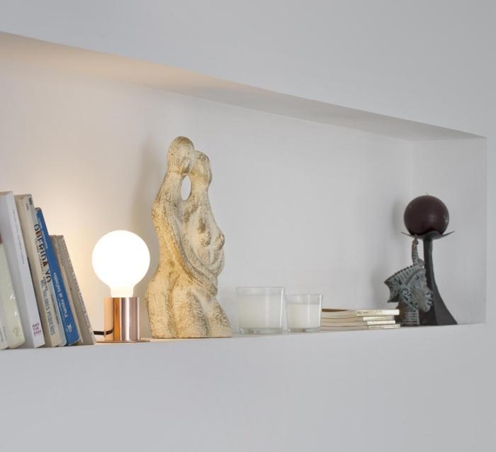 LAMPE À POSER, TEN, CUIVRE, H9CM, Ø6CM - FARO