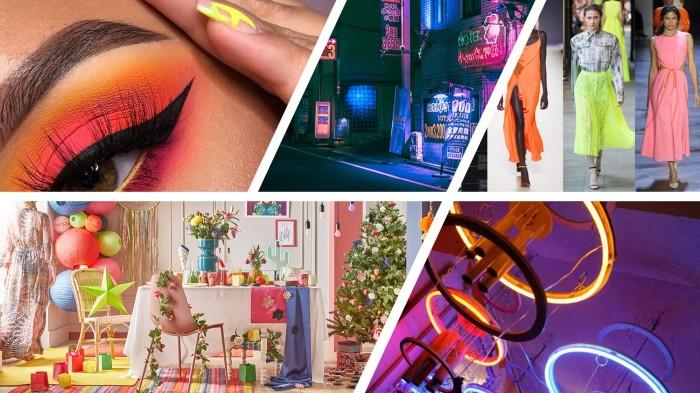 Le néon, une tendance festive