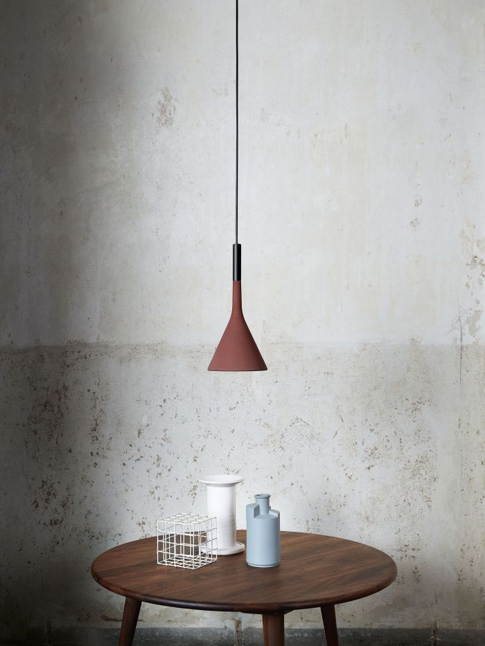SUSPENSION, APLOMB GU10, ROUGE, Ø17CM, H36CM - FOSCARINI