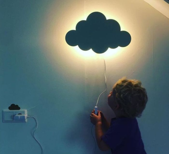 APPLIQUE MURALE NUAGE, CLOUD LAMP, VERT, LED, L40CM, H25CM - FERM LIVING