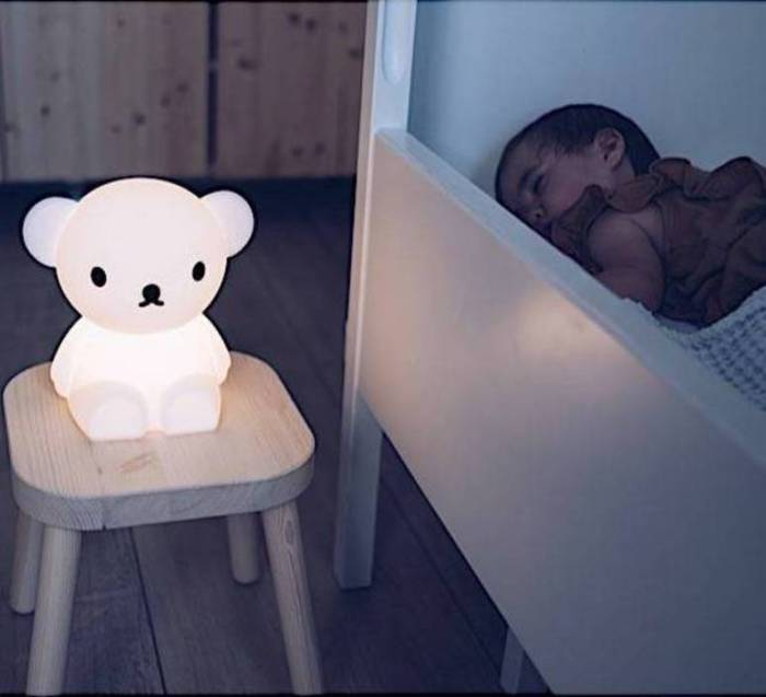 LAMPE À POSER ENFANT, VEILLEUSE, FIRST LIGHT - OURS BORIS, BLANC, LED, 2700K, 100LM, L20CM, H21CM - MR MARIA
