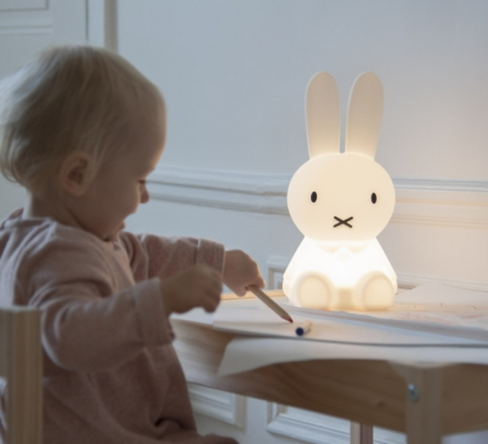 LAMPE, VEILLEUSE, LAPIN, FIRST LIGHT - MIFFY, BLANC, LED, 2700K, 100LM, Ø15CM, H30CM - MR MARIA