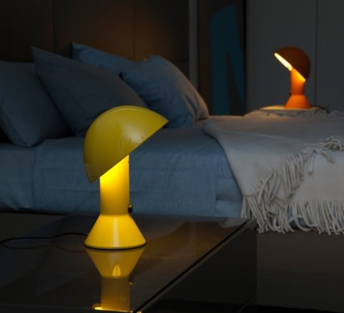 Lampe À Poser, Elmetto, Jaune, H28cm - Martinelli-Luce