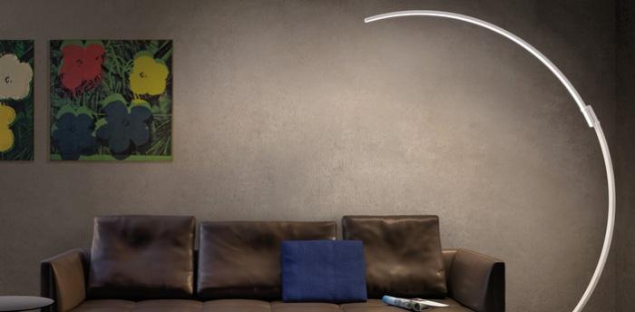LAMPADAIRE, KYUDO, BLANC, LED, 2700K, 4200LM, L42CM, H212CM - KUNDALINI