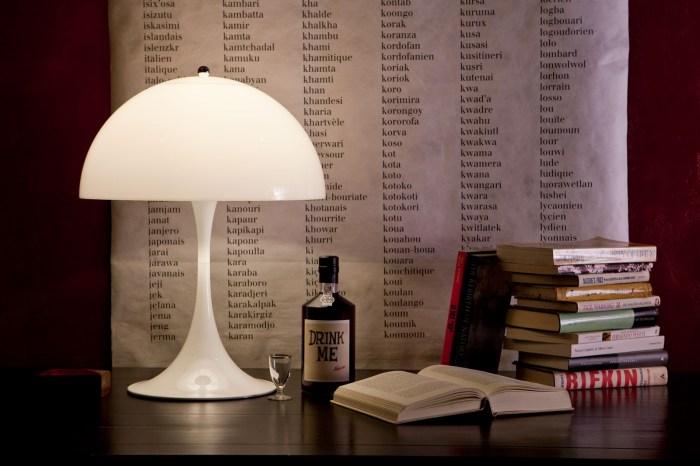 LAMPE À POSER, PANTHELLA, BLANC, Ø40CM, H58CM - LOUIS POULSEN