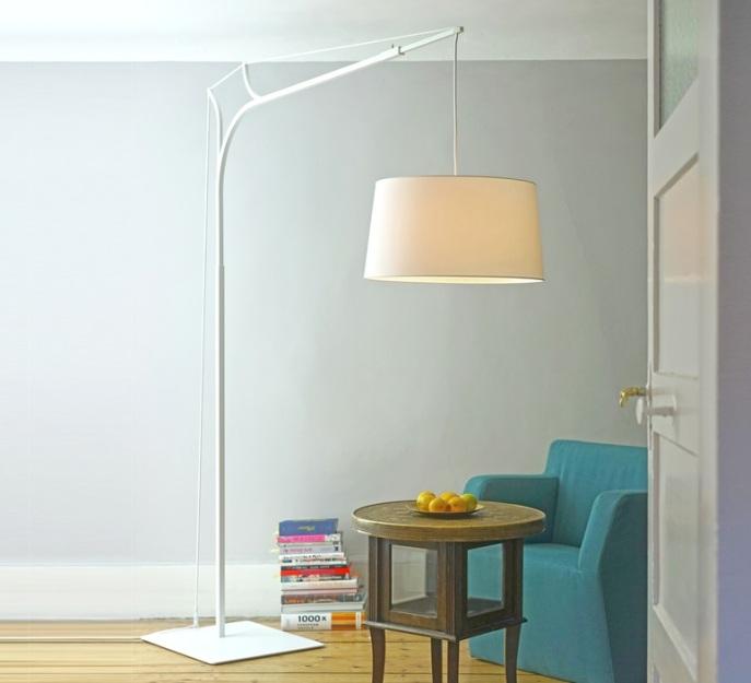 LAMPADAIRE, TINA, DIMMABLE, BLANC, H220CM - FRAUMAIER