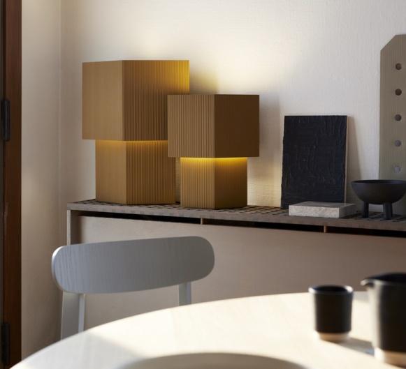 Lampe à poser, Romb 36, Cumin,  L29cm, H36cm - Pholc