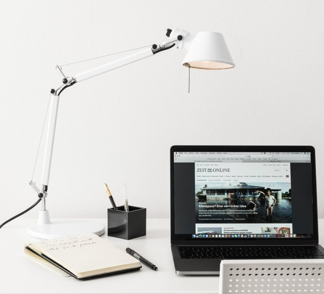 LAMPE À POSER, TOLOMEO MICRO TABLE, BLANC BRILLANT, L45CM, H37CM - ARTEMIDE