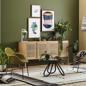 La couleur idéale pour une déco cocooning et rétro : le vert olive !