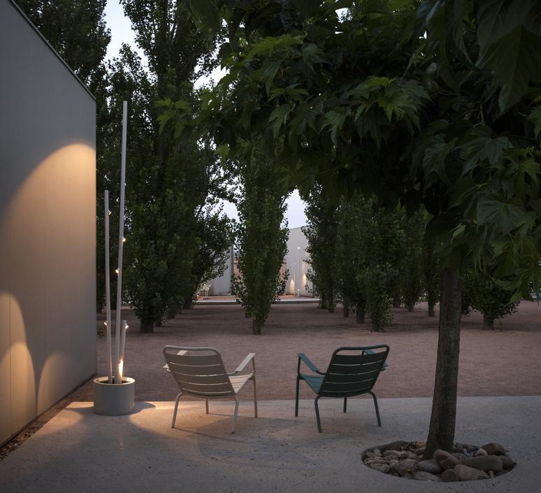 LAMPADAIRE D'EXTÉRIEUR, BAMBOO 4812, BLANC, IP66,LED, 2700K, 420LM, Ø40CM, H270CM - VIBIA