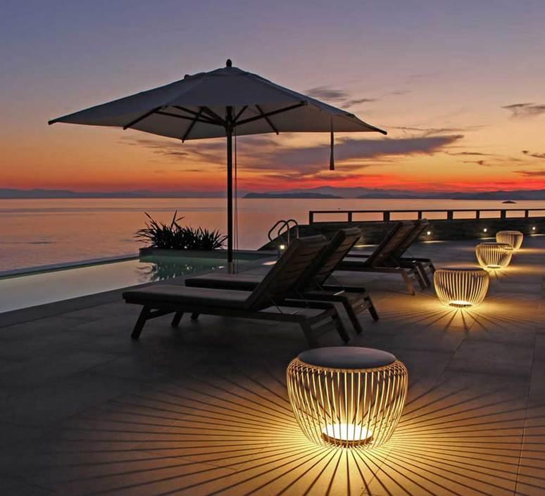 LAMPADAIRE EXTÉRIEUR, MERIDIANO 4710, KAKI, IP64,LED, 2700K, 1041LM, Ø64CM, H46CM - VIBIA