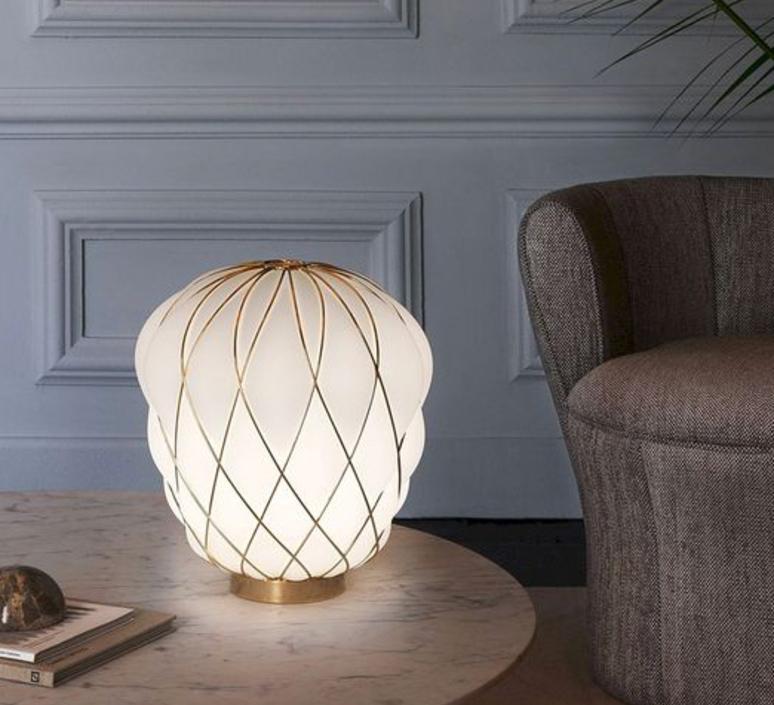 LAMPE À POSER, PINECONE, OR, Ø30CM, H36CM - FONTANA ARTE