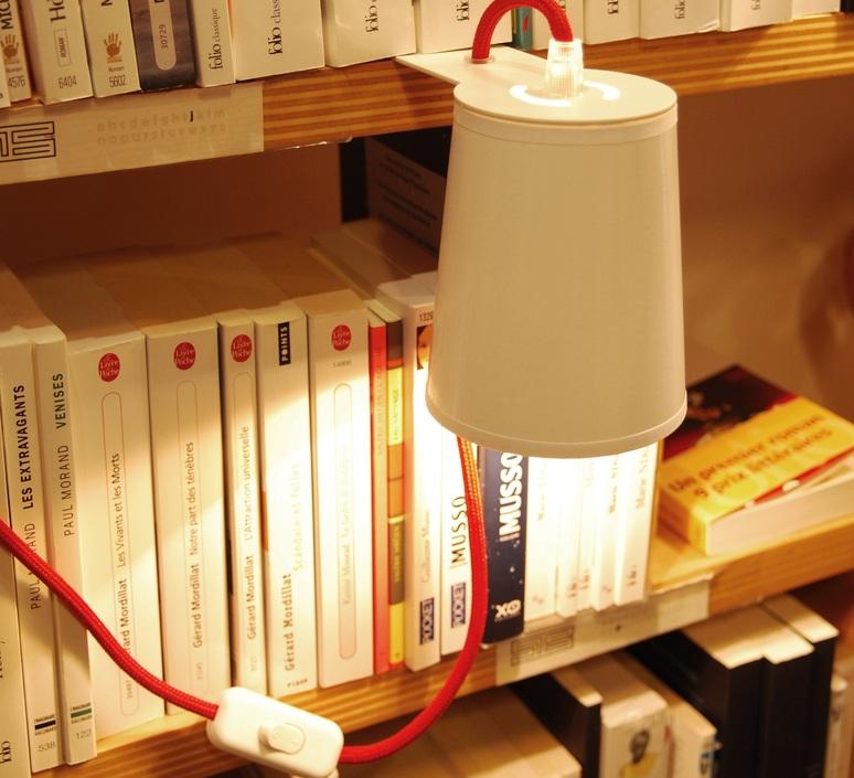 LAMPE À POSER, LIGHTBOOK, BLANC, ROUGE, H12CM - DESIGNHEURE