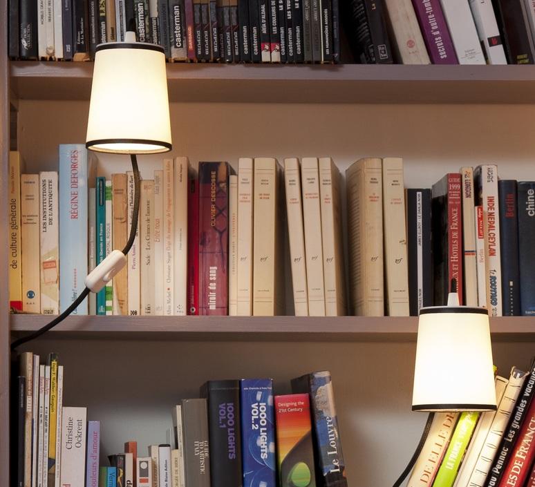 LAMPE À POSER, LIGHTBOOK, BLANC, NOIR, H12CM - DESIGNHEURE